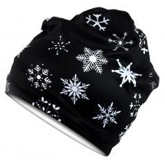 Scarve cap SNOW black