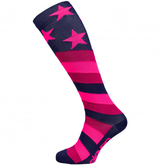 Kompressionsstrümpfe Stars Pink