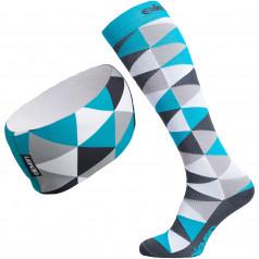 Kompressionsstrümpfe + Stirnband Eleven Triangle Blue