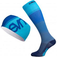 Kompressionsstrümpfe + Stirnband Eleven Mono Blue