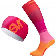 Kompressionsstrümpfe + Stirnband Eleven Mono Pink