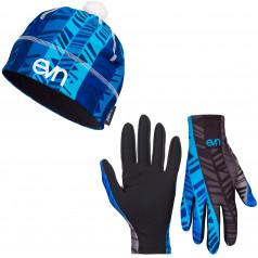 Mütze + Laufhandschuhe Eleven Pass Blue