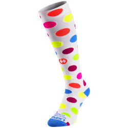Compression socks Dots White
