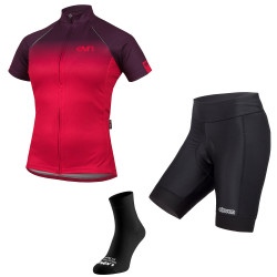 Damen Radsport-Set Eleven New Gradient Lady