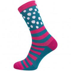 Socken verlängert Eleven Suuri+ Dotline Pink