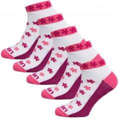 Socken Eleven Luca Flower Pink 5 Pack