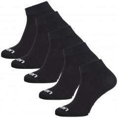 Socken Eleven Luca Basic Black 5 Pack