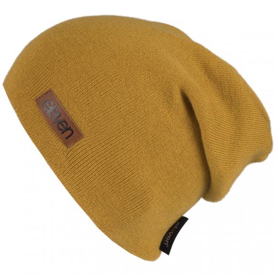 Knitted beanie Eleven L-Mustard